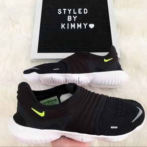 🌸 NIKE FREE RN 3 Running Shoes Sneakers Black New